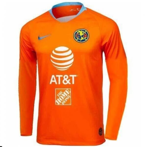 Maillot Foot Pas Cher Club América Third ML 2019 2020 Orange
