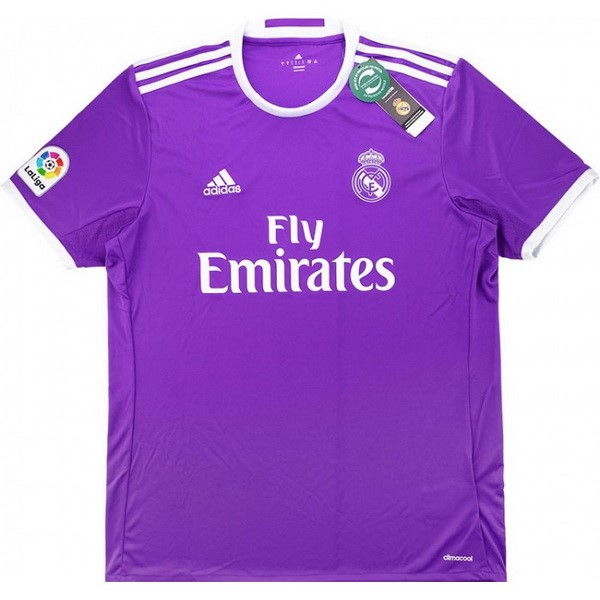 Maillot Foot Pas Cher Real Madrid Exterieur Retro 2016 2017 Purpura