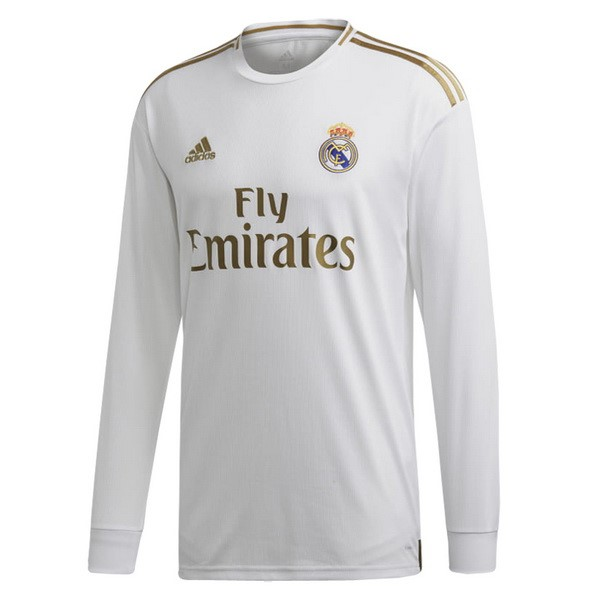 Maillot Foot Pas Cher Real Madrid Domicile ML 2019 2020 Blanc
