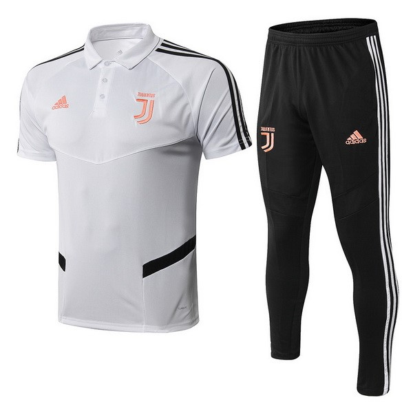 Polo Foot Pas Cher Juventus Ensemble Complet 2019 2020 Blanc Orange