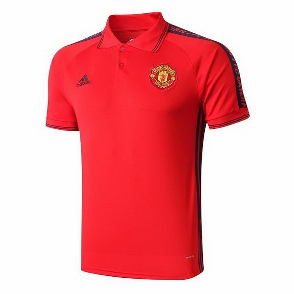 Polo Foot Pas Cher Manchester United 2019 2020 Rouge Jaune