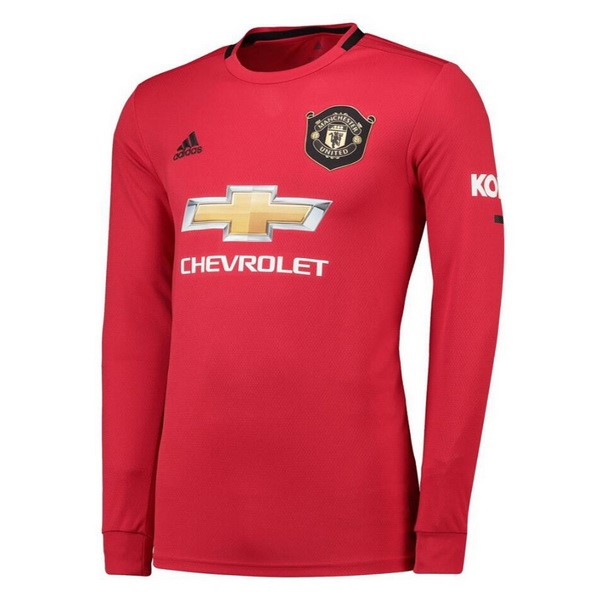 Maillot Foot Pas Cher Manchester United Domicile ML 2019 2020 Rouge