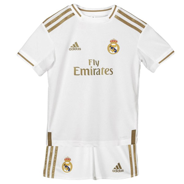 Maillot Foot Pas Cher Real Madrid Domicile Enfant 2019 2020 Blanc