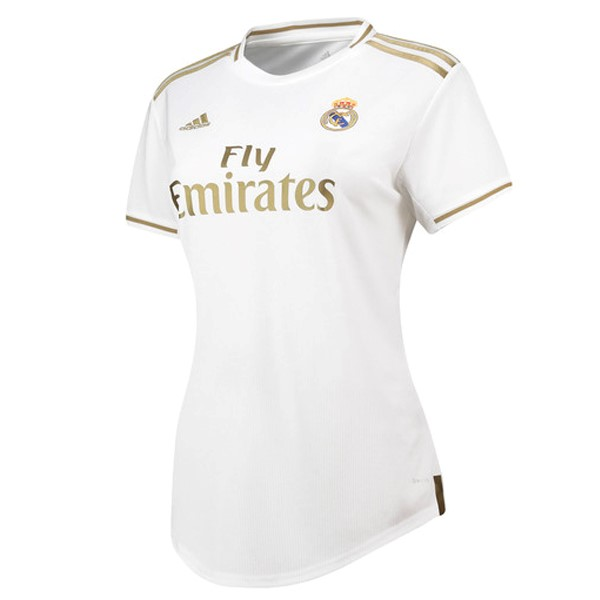 Maillot Foot Pas Cher Real Madrid Domicile Femme 2019 2020 Blanc