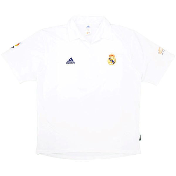 Maillot Foot Pas Cher Real Madrid Domicile Retro 2001 2002 Blanc