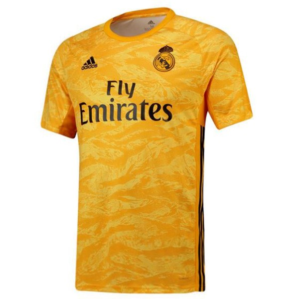 Maillot Foot Pas Cher Real Madrid Domicile Gardien 2019 2020 Jaune