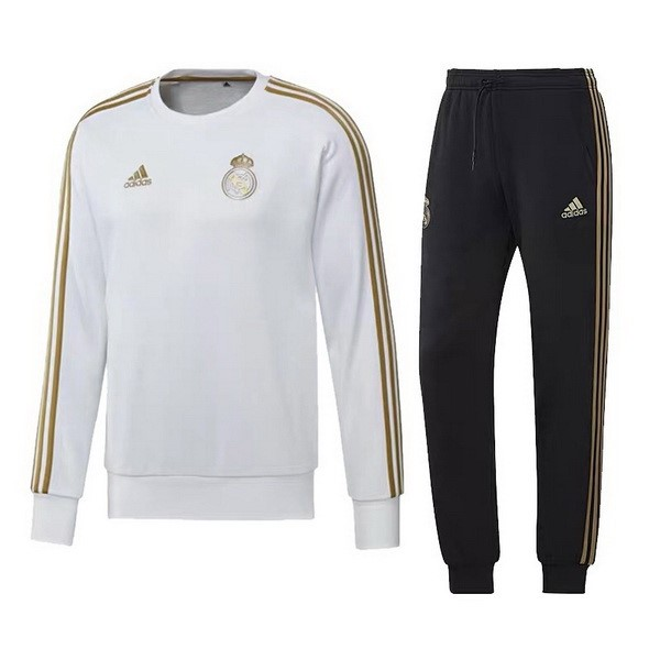 Survetement Foot Pas Cher Real Madrid 2019 2020 Jaune Blanc