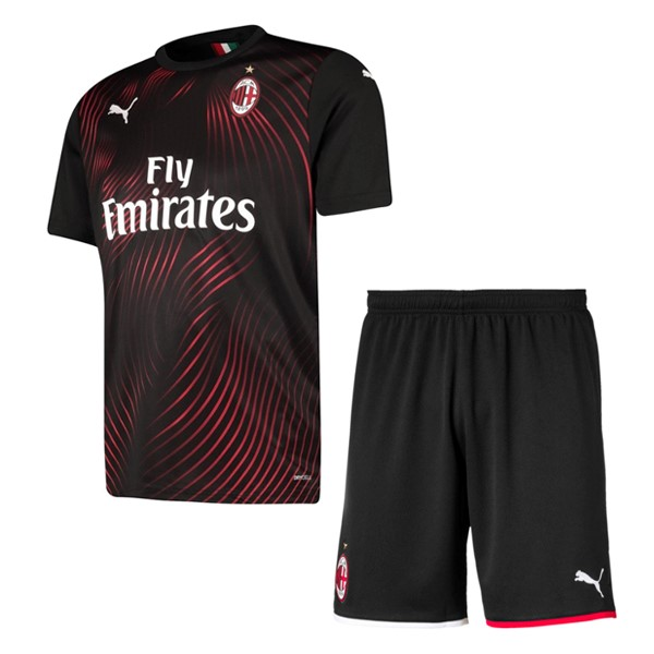 Maillot Foot Pas Cher AC Milan Third Enfant 2019 2020 Rouge Negro
