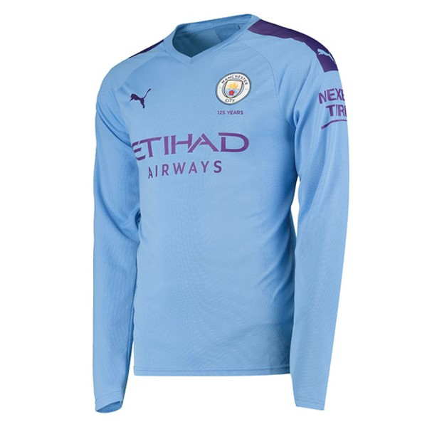 Maillot Foot Pas Cher Manchester City Domicile ML 2019 2020 Azul