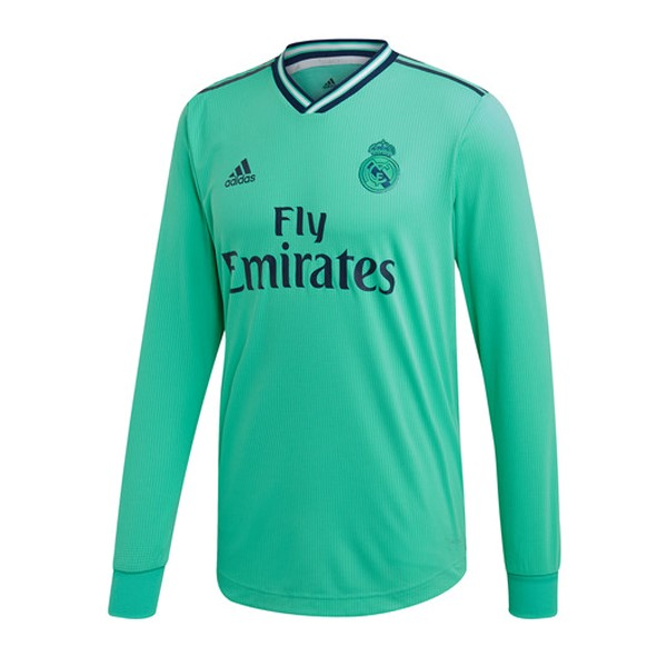 Maillot Foot Pas Cher Real Madrid Third ML 2019 2020 Vert