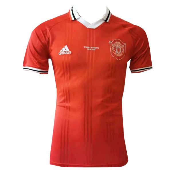 Polo Foot Pas Cher Manchester United 2019 2020 Rouge Blanc