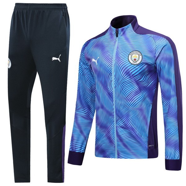 Survetement Foot Pas Cher Manchester City 2019 2020 Purpura Azul