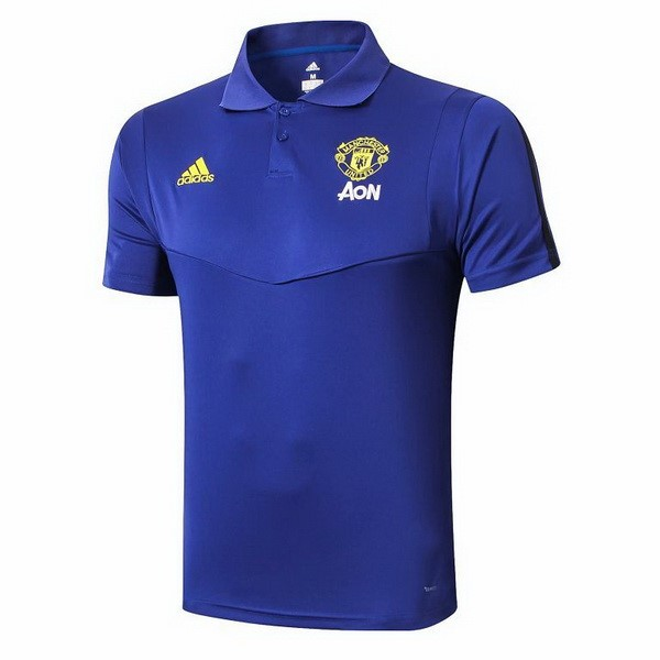 Polo Foot Pas Cher Manchester United 2019 2020 Azul
