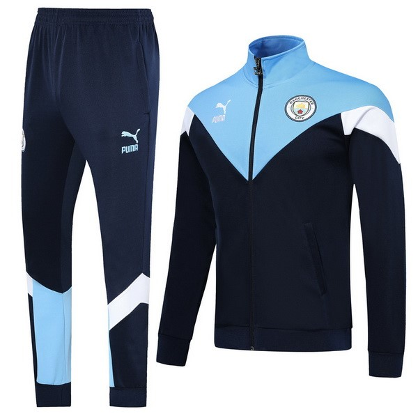 Survetement Foot Pas Cher Manchester City 2019 2020 Azul Blanc