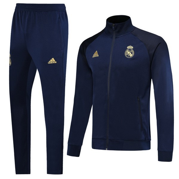 Survetement Foot Pas Cher Real Madrid 2019 2020 Azul Jaune
