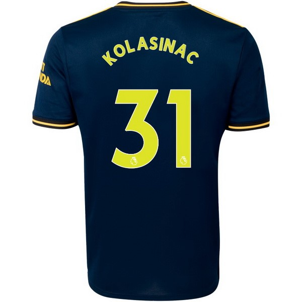 Maillot Foot Pas Cher Arsenal NO.31 Kolasinac Third 2019 2020 Bleu
