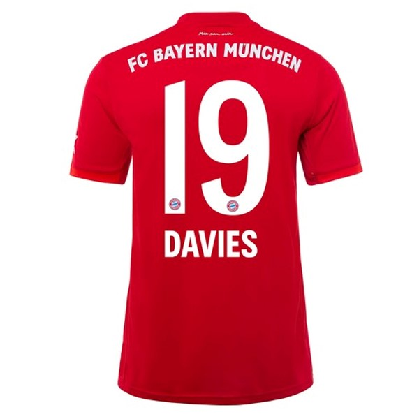 Maillot Foot Pas Cher Bayern Munich NO.19 Davies Domicile 2019 2020 Rouge