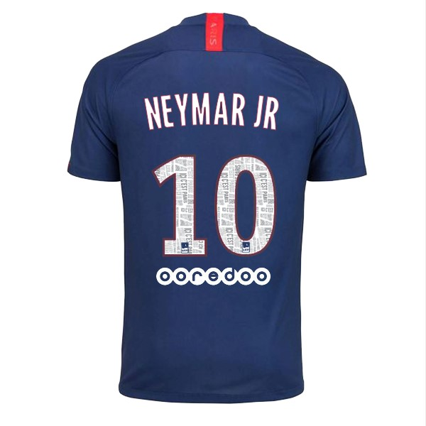 Maillot Foot Pas Cher Paris Saint Germain NO.10 Neymar JR Domicile 2019 2020 Bleu