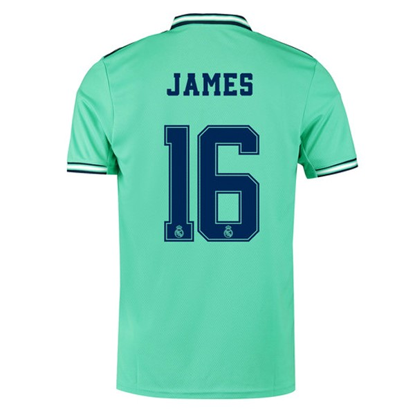 Maillot Foot Pas Cher Real Madrid NO.16 James Third 2019 2020 Vert