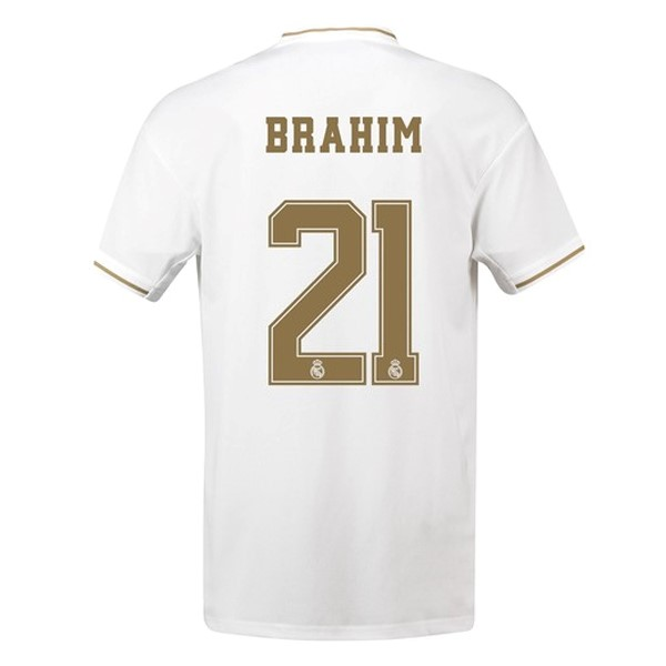 Maillot Foot Pas Cher Real Madrid NO.21 Brahim Domicile 2019 2020 Blanc