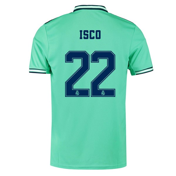 Maillot Foot Pas Cher Real Madrid NO.22 Isco Third 2019 2020 Vert