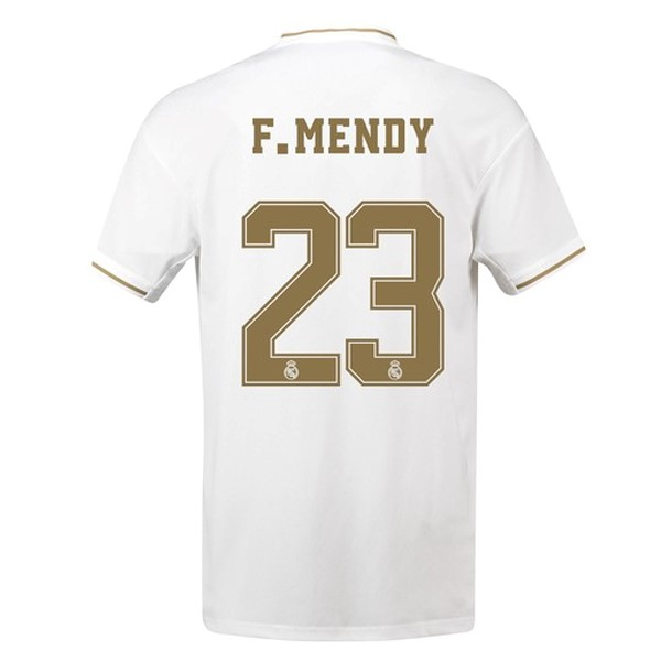 Maillot Foot Pas Cher Real Madrid NO.23 F.Mendy Domicile 2019 2020 Blanc