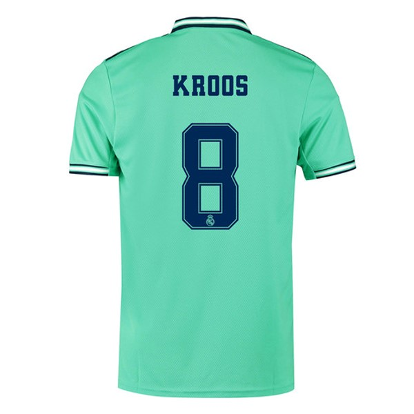 Maillot Foot Pas Cher Real Madrid NO.8 Kroos Third 2019 2020 Vert
