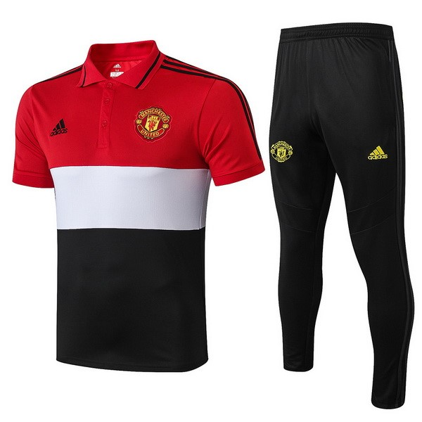 Polo Manchester United Ensemble Complet 2019 2020 Rouge Blanc Noir