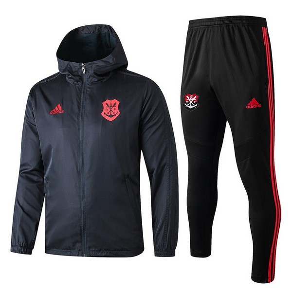 Coupe Vent Flamengo Ensemble Complet 2019 2020 Noir Rouge