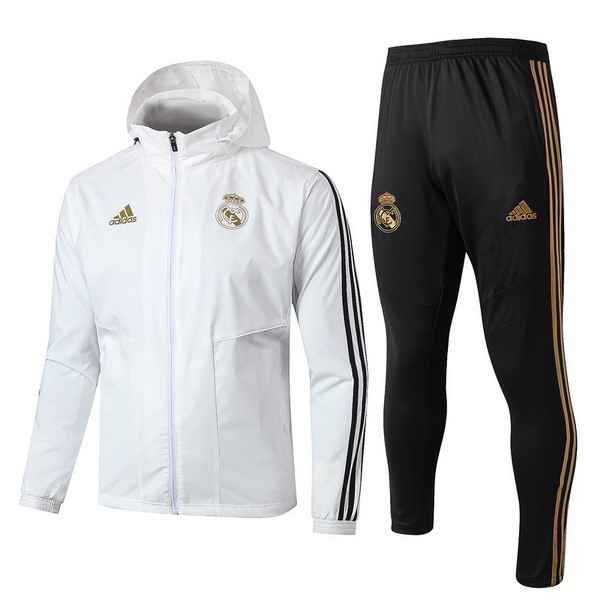 Coupe Vent Real Madrid Ensemble Complet 2019 2020 Blanc Noir