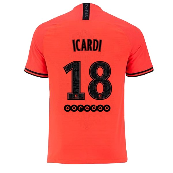 JORDAN Maillot Foot Pas Cher Paris Saint Germain NO.18 Icardi Exterieur 2019 2020 Orange