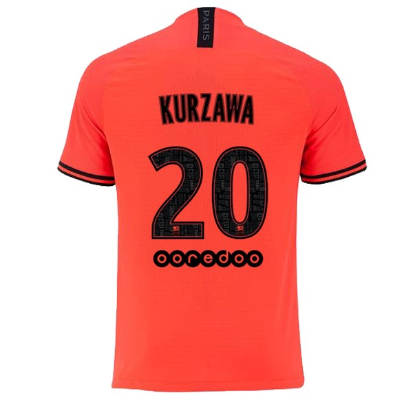 JORDAN Maillot Foot Pas Cher Paris Saint Germain NO.20 Kurzawa Exterieur 2019 2020 Orange