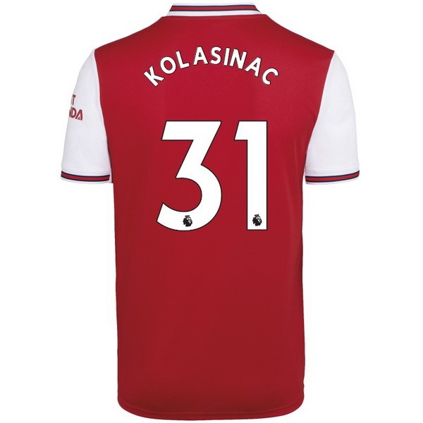 Maillot Foot Pas Cher Arsenal NO.31 Kolasinac Domicile 2019 2020 Rouge