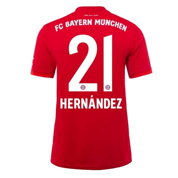 Maillot Foot Pas Cher Bayern Munich NO.21 Hernández Domicile 2019 2020 Rouge