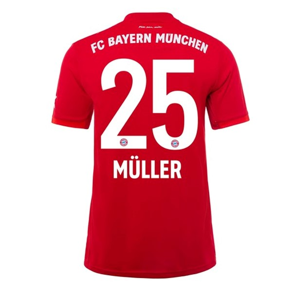 Maillot Foot Pas Cher Bayern Munich NO.25 Muller Domicile 2019 2020 Rouge