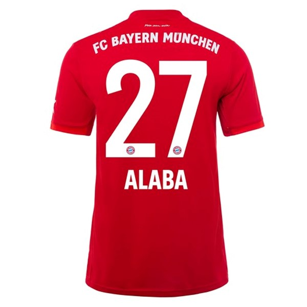 Maillot Foot Pas Cher Bayern Munich NO.27 Alaba Domicile 2019 2020 Rouge