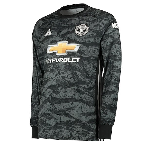 Maillot Foot Pas Cher Manchester United ML Gardien 2019 2020 Gris