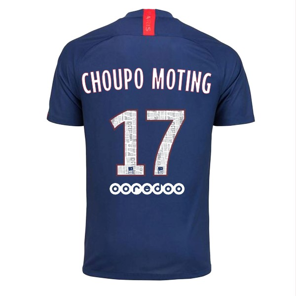 Maillot Foot Pas Cher Paris Saint Germain NO.17 Choupo Moting Domicile 2019 2020 Bleu