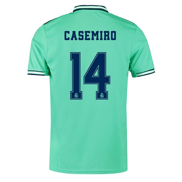 Maillot Foot Pas Cher Real Madrid NO.14 Casemiro Third 2019 2020 Vert