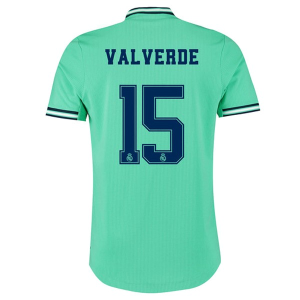 Maillot Foot Pas Cher Real Madrid NO.15 Valverde Third 2019 2020 Vert