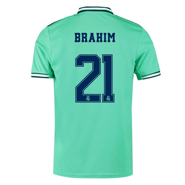 Maillot Foot Pas Cher Real Madrid NO.21 Brahim Third 2019 2020 Vert