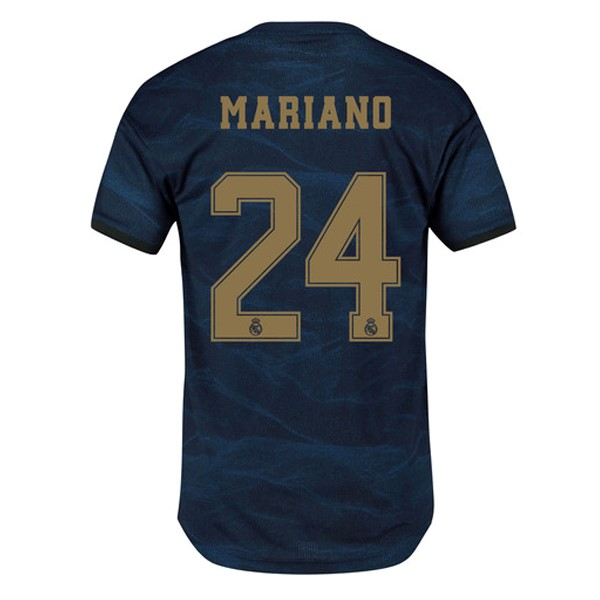 Maillot Foot Pas Cher Real Madrid NO.24 Mariano Exterieur 2019 2020 Bleu