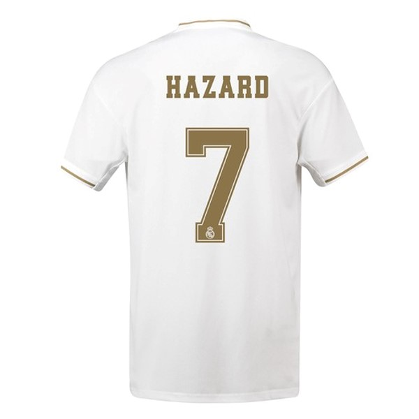 Maillot Foot Pas Cher Real Madrid NO.7 Hazard Domicile 2019 2020 Blanc