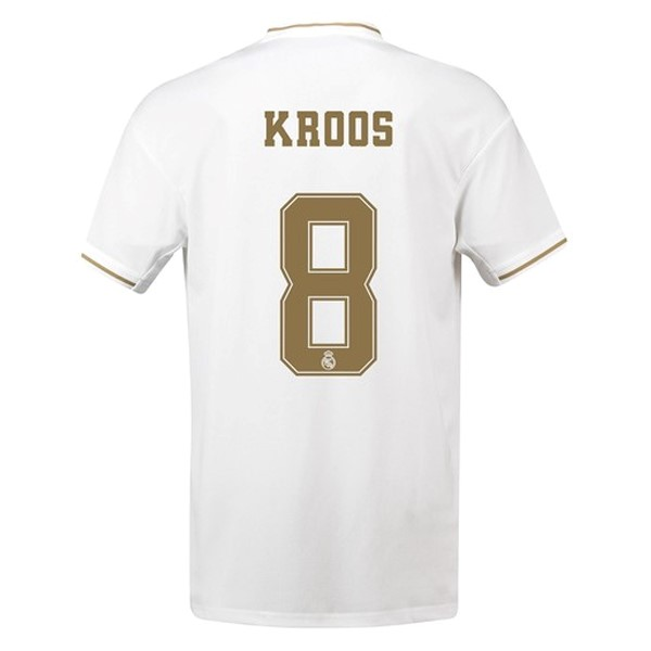 Maillot Foot Pas Cher Real Madrid NO.8 Kroos Domicile 2019 2020 Blanc