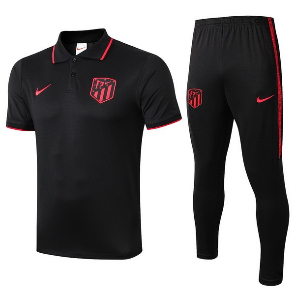 Polo Atlético de Madrid Ensemble Complet 2019 2020 Noir