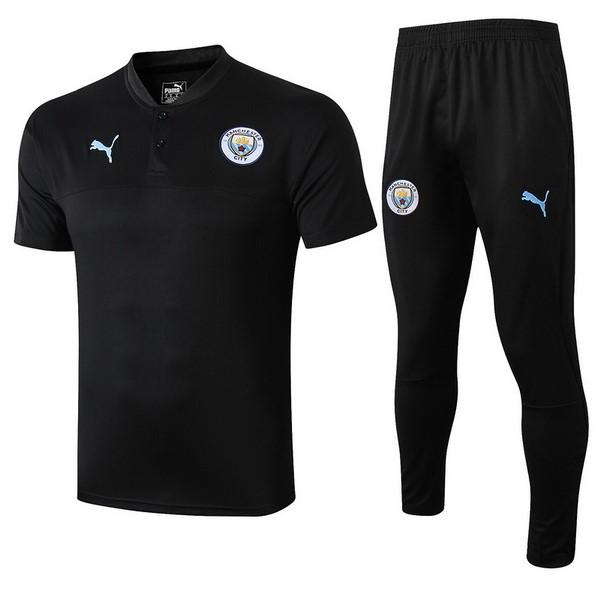 Polo Manchester City Ensemble Complet 2019 2020 Noir