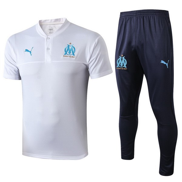 Polo Marseille Ensemble Complet 2019 2020 Blanc