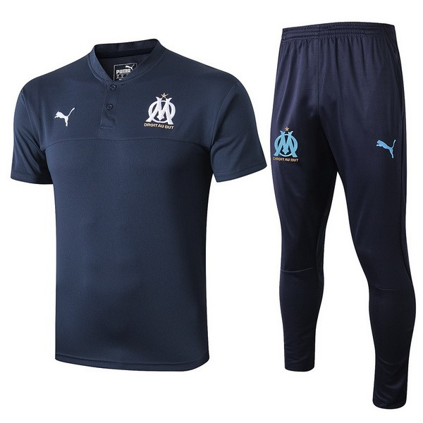 Polo Marseille Ensemble Complet 2019 2020 Bleu