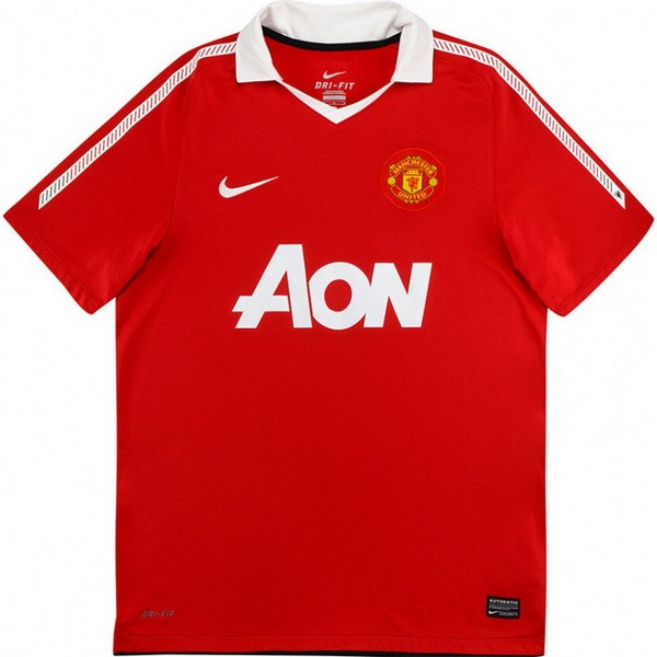 Maillot Foot Pas Cher Manchester United Domicile Retro 2010 2011 Rouge