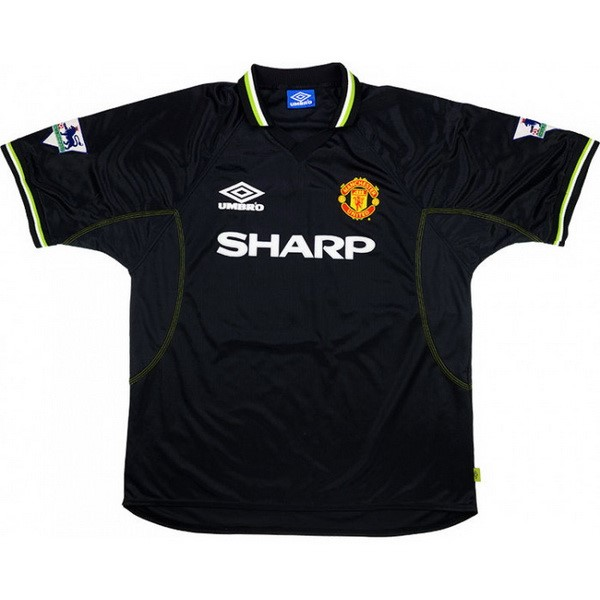 Maillot Foot Pas Cher Manchester United Third Retro 1998 1999 Noir